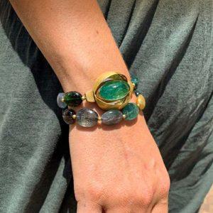 Unikate – grünes Armband